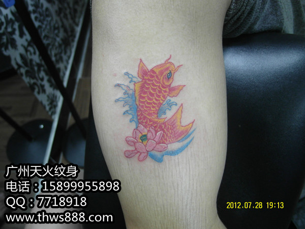 彩色小鱼纹身01