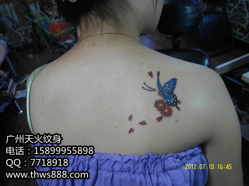 蝴蝶纹身001
